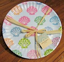 Melamine Seashell Dinner Plates Set of 6 10.5 inches Cynthia Rowley
