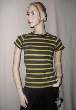 killtec Damen T-Shirt Rundhals kurzarm braun h'grün gestreift Gr. 38 M NEU