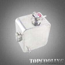 Universal 2.5L Aluminum Radiator Coolant Overflow Tank Silver