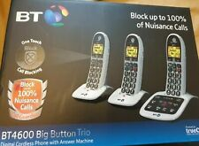 BT4600 Big Button Advanced Call Blocker Cordless DECT Phones Trio Handsets BT