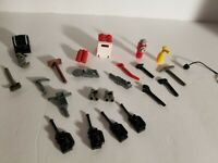 Lego Lot of 22 Fire Rescue Gear City Town Minifigure Fire Station Tools & Parts