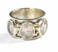 Rose Quartz Statement Sterling Silver Fine Rings