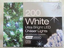 200 Bianco Natale Luci Giardino display multifunzione Gazebo Luci BBQ