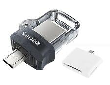 SanDisk 128GB OTG Ultra Dual microUSB 128G USB 3.0 Pen Drive SDDD3-128G +T04