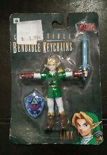 New 1998 Legend Of Zelda Ocarina Of Time Link Figure Bendable Keychain Nintendo