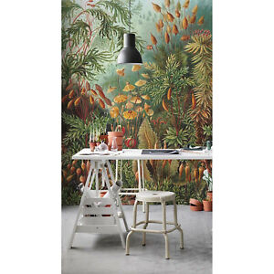 Tropical Jungle Removable | Exotic Watercolor Mural | Repositionable wall mural