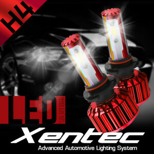 2X H4 HID White Motorcycle Headlight LED Motor Hi/Lo Beam Light 2500LM 5-COB 25W