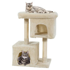 Luxury Cat Tree Cat Tower for Large Cats w/Sisal Post & Double Cozy Plush Condos