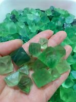 AAA+++ Natural Green Fluorite Octahedron Crystals 0.22LB - LARGE - Bulk Lot 100g