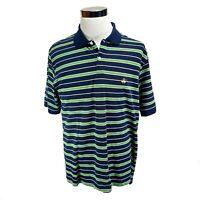Brooks Brothers 346 Striped Polo Shirt Mens Medium Original Fit Short Sleeve L