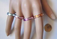 Lote 4 anillos aluminio colores nº 10 ó 19 mm diámetro medio bisutería r-51