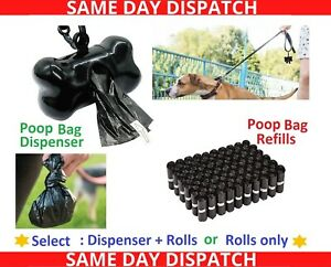 Dog Poo Bags Extra Strong Large Double Thick Dog Poop Dispenser Doggy bags