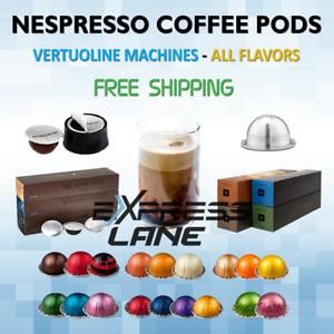 Coffee Nespresso Vertuo Line 50 Pods (5 Sleeves) Espresso ALL FLAVORS - FRESH