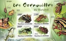 African FROGS Amphibian Animal Stamp Sheet #1 of 5 (2011 Burundi)