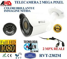 TELECAMERA UNIVERSALE 3,6mm 20 LED SMD INFRAROSSI NIGHT&DAY 2 MPX 1080P BULLET