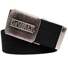 DeWalt Black Webbing Belt for Work Trousers with Quick Release Nickel Buckle