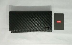 TUMI DESOTA SLG BREAST POCKET LEATHER WALLET BLACK TEXTURE #0113143DO-NWT