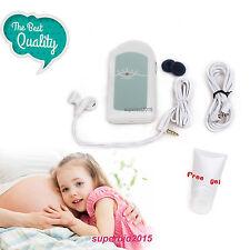 Son bébé A Enceinte Doppler fœtal Moniteur cardiaque pour bébé avec Gel gratuit