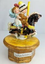 """Vintage American Greetings Music Box Holly Hobbie Video """"Love Makes the World."""