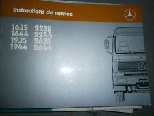 Mercedes 1635 1644 1935 1944 2235 2244 2635 2644 : Notice d'entretien 1986
