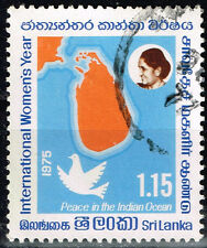 Sri Lanka Island Country Map and Leader stamp 1976