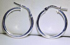STERLING SILVER (925) LADIES HOOP CREOLE EARRINGS (G5256)