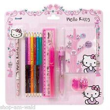 Hello Kitty Maxi Schreibset Buntstifte Radiergummi Lineal Anspitzer Bleistift