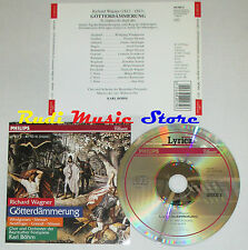 CD WAGNER GOTTERDAMMERUNG BOHM thomas stewart 1997 CD 3 LYRICA lp mc dvd