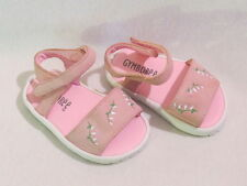Gymboree Floral Spray Pink Suede Leather Crib Shoes Sandals, 0