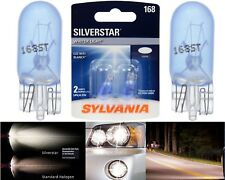 Sylvania Silverstar 168 4.9W Two Bulbs License Plate Tag Light Upgrade Fit Stock