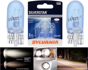 Sylvania Silverstar 168 4.9W Two Bulbs Front Side Marker Parking Lamp JDM T10