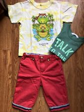 Red Shorts And A Tank And A T-Shirt Summer Boys Size 4-6 Years Old