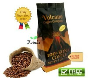 Volcano Coffee Company 100% KONA COFFEE Bean 6 oz