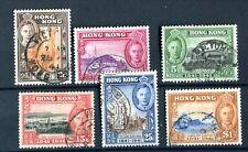 Hong Kong KGVI 1941 Set of 6 SG163/8 used