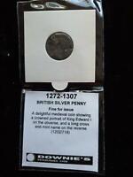 SCARCE 1272-1307 BRITISH SILVER PENNY COIN EDWARD I LONDON COIN - WORN