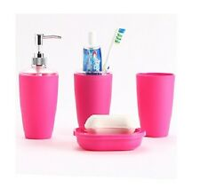 Bathroom Accessory Set Soap Dish Dispenser Tumbler Toothbrush Holder Toilet New