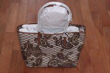 NWT Michael Kors $378 Mercer Studio Paisley Emry Large Top Zip Tote Bag Luggage