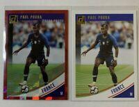 (2 LOT) Paul Pogba 2018-19 Panini Donruss Soccer #133 France Press Proof Red