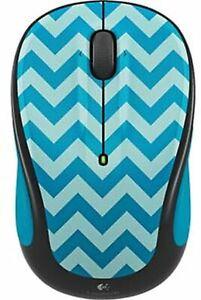 Logitech M325c Wireless Optical Mouse, Teal Chevron NO RECEIVER (IL/RT6-949-8...