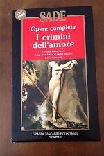 L38> Sade - Opere complete - I crimini d'amore - 1993