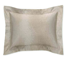 Sferra MICCA King Sham Sable Egyptian Cotton & Silk Sateen Jacquard NEW