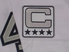 Oakland Raiders SILVER,BLACK & WHITE COLOR RUSH CAPTAINS JERSEY PATCH NEW