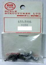 "SS Ltd~O-Scale/1:48 Figure Kit~650-3406~""Vier""~White Metal~Sitting"