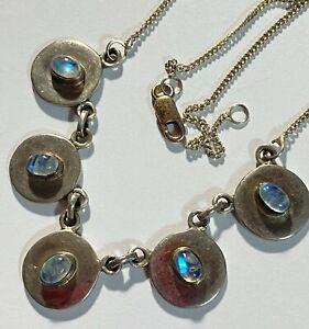 "MARKED 925 Sterling Silver Vintage Cowboy Hat Necklace 16.5"" 10.8 g #S282"