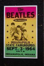 Beatles Tour Poster 1964 Indianapolis Indiana State Fairgrou