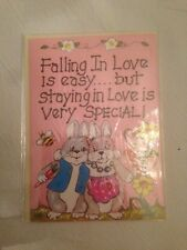 "Smiley greeting card - ""caduta in amore è facile..."""