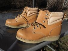 """Double H 6"""" Crepe Wedge Work Boots # Hhw328 / Soft Toe / Us Men 10 D / Pre-owned"""
