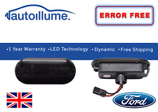Ford Fiesta Mk6 Focus Mk2 Dynamic Sweeping Indicators Smoked LED Sequential Side