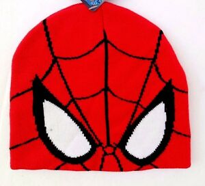 Marvel Comics Ultimate Spider-Man Boy's Youth-Adult Graphic Beanie Hat NWT