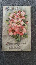 1917 Pioneer Series Birthday Postcard No 212. Bouquet of Flowers & Verse